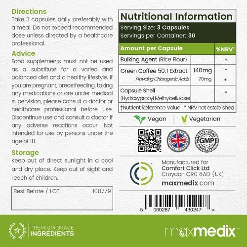 ingredienser i grøn kaffe ekstrakt